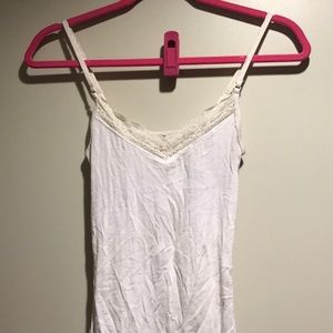 Tops - White lacy tank